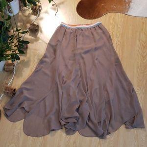 Tasha Polizzi rainbow waistband maxi skirt